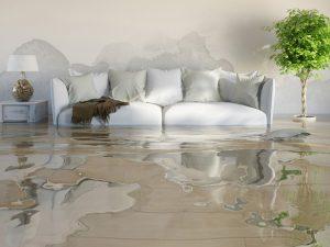 Vízzel elöntött szoba